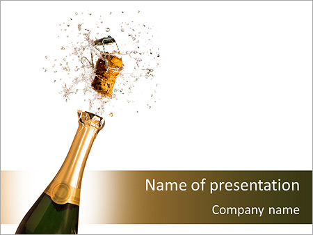 Champagne Bottle PowerPoint Template, Backgrounds & Google Slides ...
