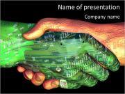 Робот И человеческий труд Шаблоны презентаций PowerPoint