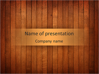 Wooden Design PowerPoint Template