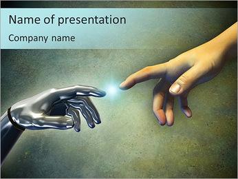 Computer Versus Human PowerPoint Template