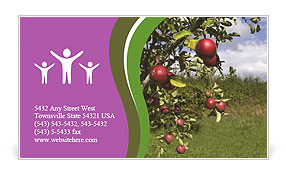 Apples On Tree Business Card Template