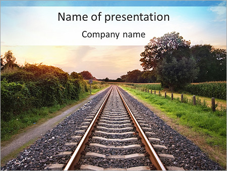 Infrastructure powerpoint template smiletemplates railway powerpoint templates toneelgroepblik Choice Image
