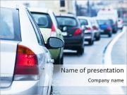 Stuck In Traffic Jam Modèles des présentations  PowerPoint