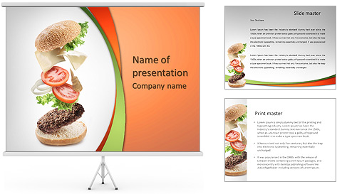 Fresh Sandwich PowerPoint Template Backgrounds ID 0000005521 – Powerpoint Flyer Template