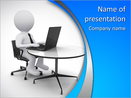 Office Man Powerpoint Template Backgrounds Google Slides Id