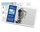 Robot Postcard Template
