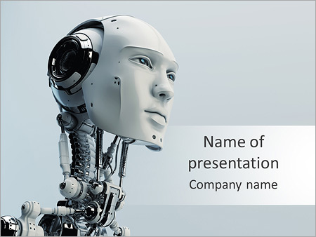 Robot powerpoint template backgrounds id 0000005539 robot powerpoint template toneelgroepblik Images
