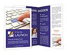 Support Button Brochure Template