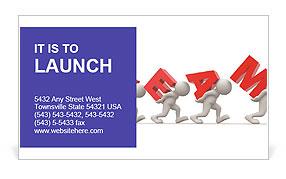 Hard Teamwork Business Card Template