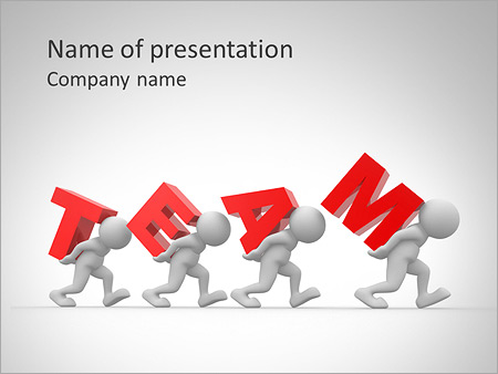 Hard Teamwork PowerPoint Template & Backgrounds ID 0000005552 ...
