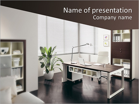 Office interior powerpoint template backgrounds id 0000005574 office interior powerpoint templates toneelgroepblik Gallery