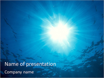Sun And Water PowerPoint Template