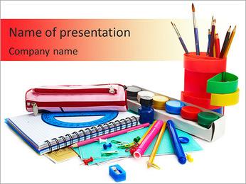 School Kit PowerPoint Template