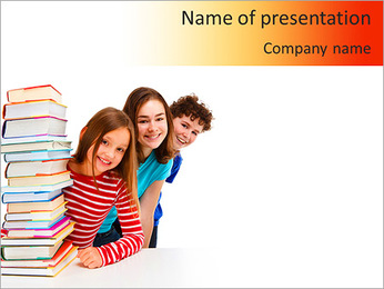 Pile Of Books PowerPoint Template