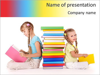 Girls Reading PowerPoint Template