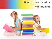 Girls Reading PowerPoint Templates