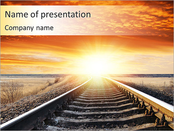 Long Train Trip PowerPoint Template