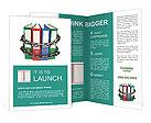 Document Folder In Chain Brochure Templates