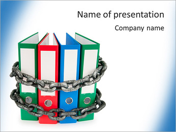 Document Folder In Chain PowerPoint Template