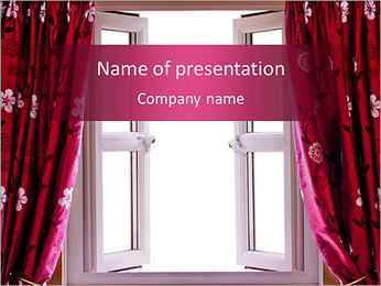 Curtain Design PowerPoint Template
