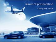 空港 PowerPointプレゼンテーションのテンプレート