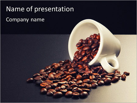 grains of coffee powerpoint template