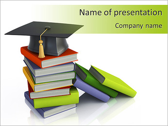 University Book PowerPoint Template