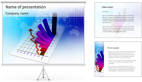 reporting diagram powerpoint template amp backgrounds id
