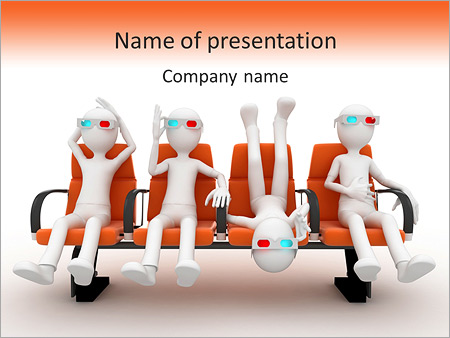 Funny 3D Movie PowerPoint Template
