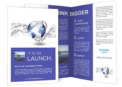 Water brochure template design id 0000005655 for Water brochure template