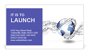 Water Business Card Template