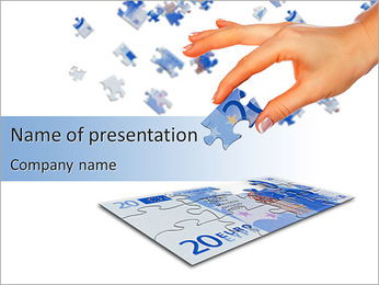 Euro Currency Puzzle PowerPoint Template
