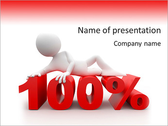 100 Percent PowerPoint Template