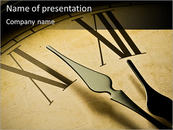Ancient Clock PowerPoint Template