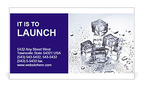 Ice For Cocktail Business Card Template