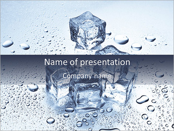 Ice For Cocktail PowerPoint Template