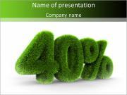 Зеленый Процент Шаблоны презентаций PowerPoint