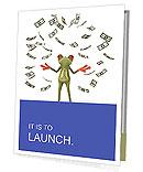 Frog With Dollars Presentation Folder