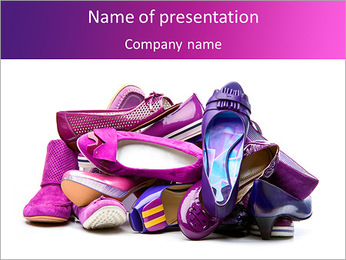 Female Shoes PowerPoint Template