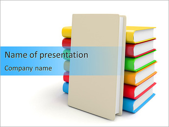 Set Of Uni Books PowerPoint Template