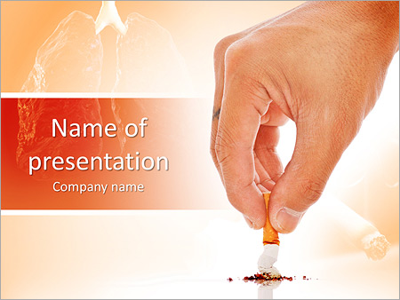 Anti Smoking Powerpoint Template Backgrounds Google Slides Id