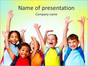 Group Of Kids PowerPoint Templates