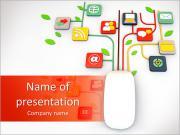 コンピュータガジェット PowerPointプレゼンテーションのテンプレート