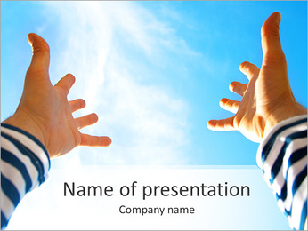 Hand To Sky PowerPoint Template