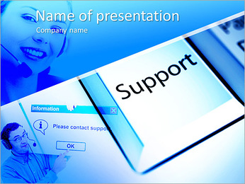 Client's Support PowerPoint Template