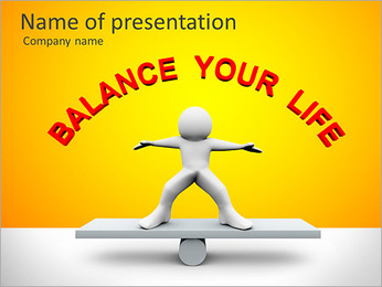 Equilibrio vita I pattern delle presentazioni del PowerPoint