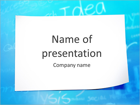 blank piece of paper powerpoint template & backgrounds id, Modern powerpoint
