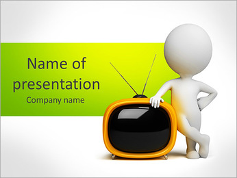 Old Tv-Set PowerPoint Template