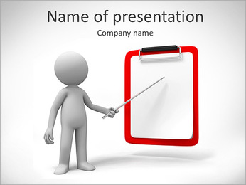 Man Pointing at Board PowerPoint Template