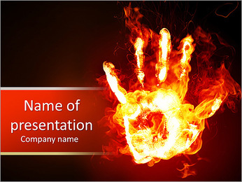 Burning Hand PowerPoint Template